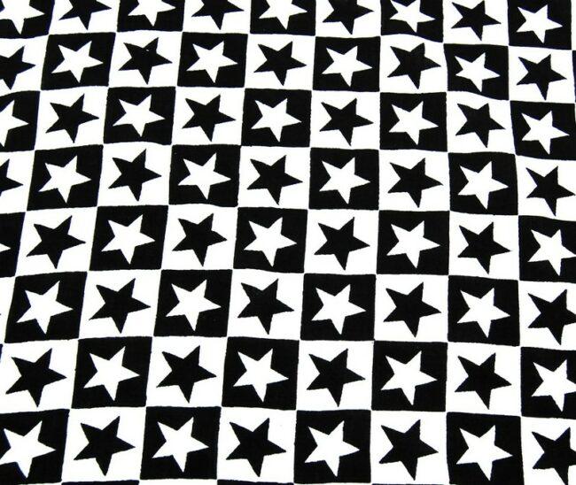 Close up Black And White Stars Bandana