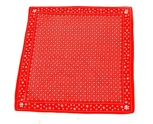 Red Paw Print Bandana