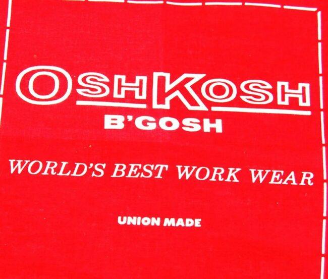 lose up of Vintage OshKosh B'Gosh Bandana