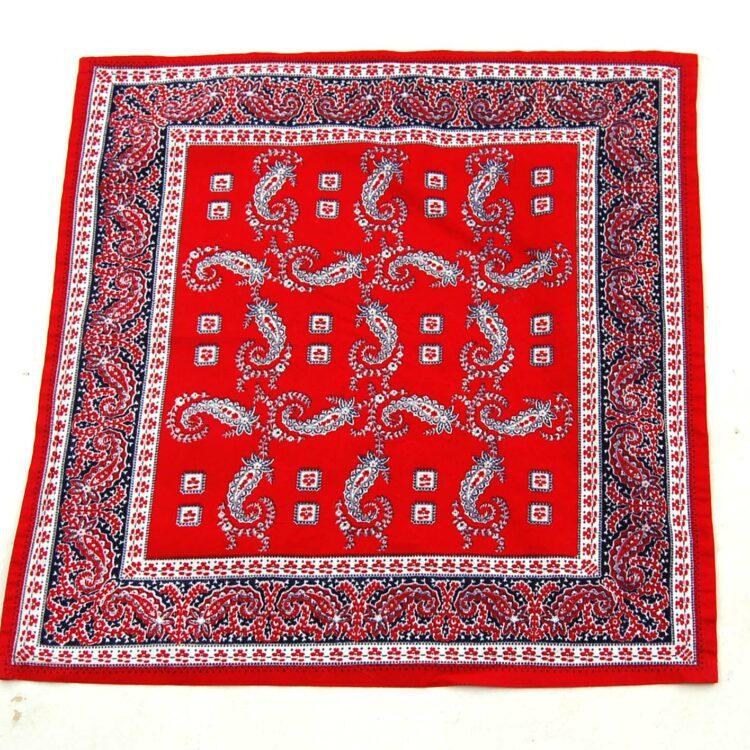 Red Paisley Bandana