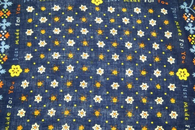 Close up of Made For You Floral Print Bandana
