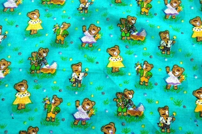 lose up of Bears Print Bandana