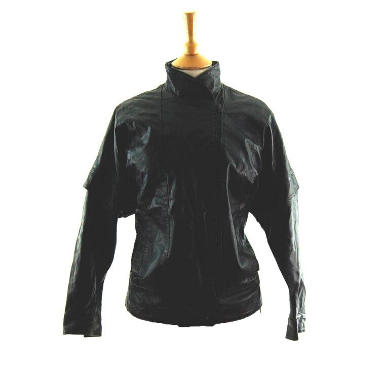 80s Side Zip Leather Jacket