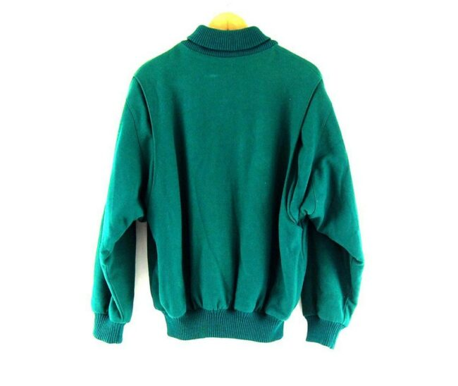 Back of Green Lacoste Club Wool Bomber Jacket