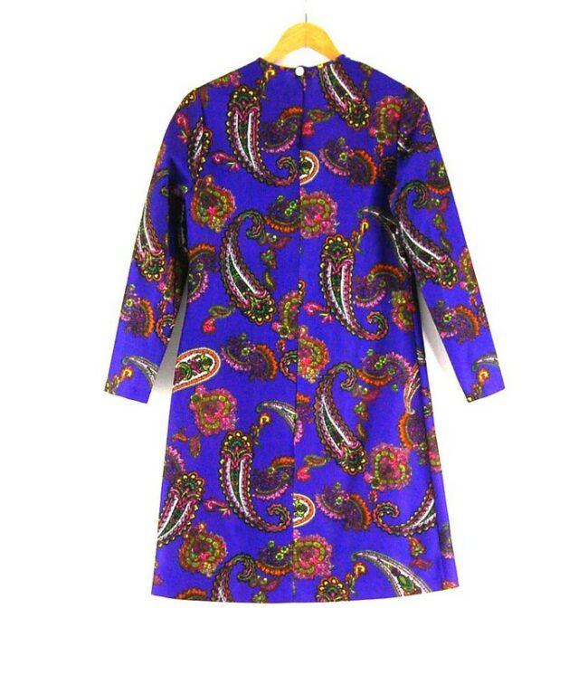 Back of 70s Long Sleeve Shift Dress