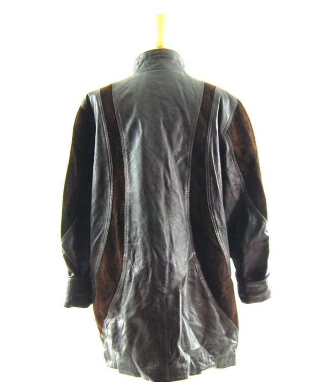 80s Leather and Suede Jacket back