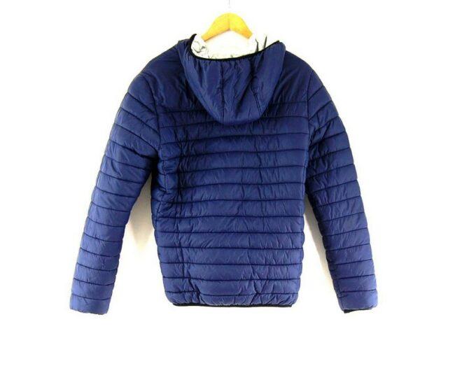 Back of Dark Blue Kappa Puffer Jacket