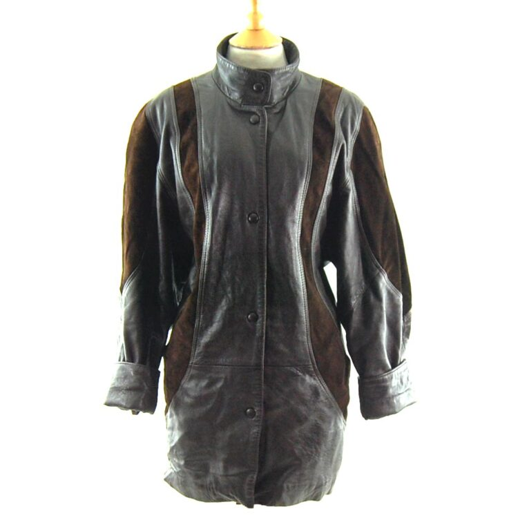 80s Leather and Suede Jacket