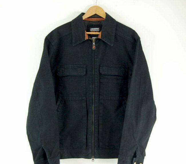 Close up of Mens Black Timberland Jacket