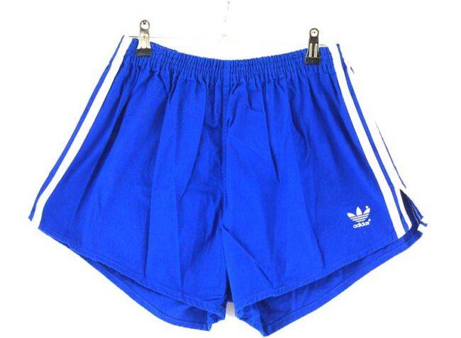 Blue Cotton Adidas 3 Stripe Mens Shorts