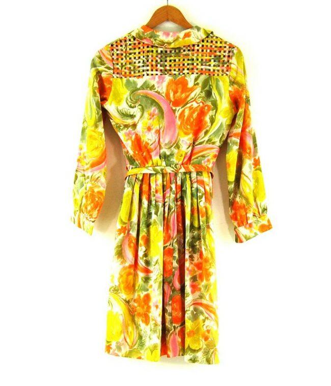 Back of 60s Belted Dress