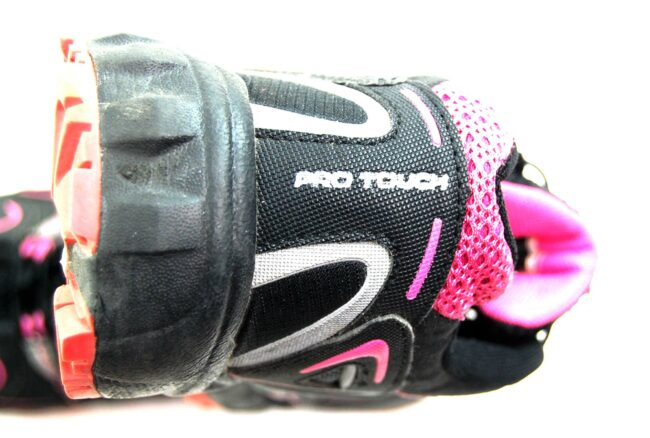 Close up of Black Pro Touch Trainers