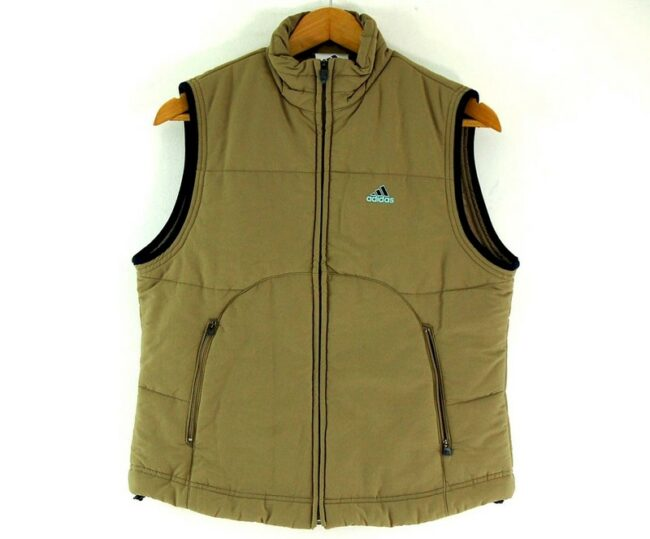 Sand Colored Adidas Womens Puffer Vest