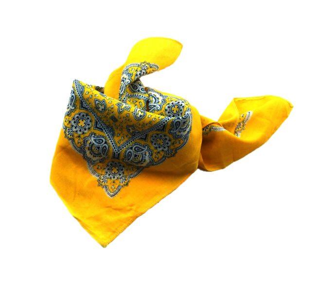 Vintage Yellow Floral Bandana