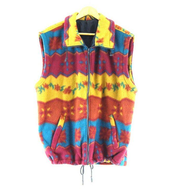 Mens Colourful Fleece Gilet