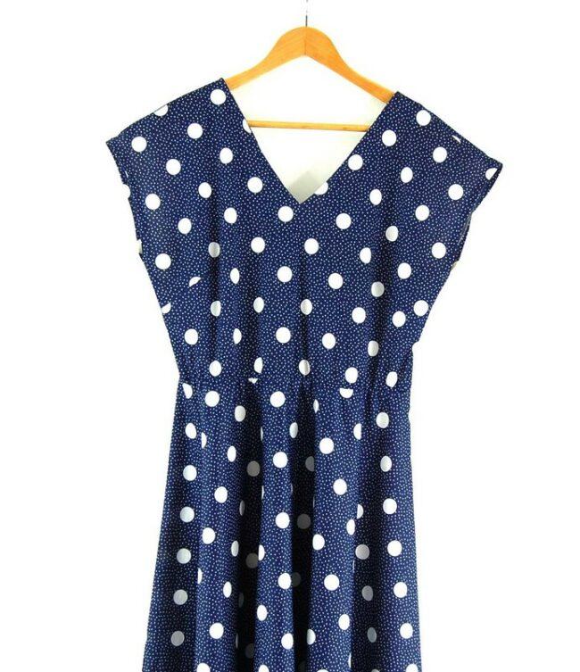 Close up of 80s Polka Dots Dress