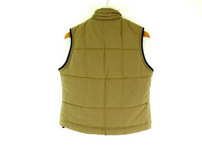 Back of Sand Colored Adidas Womens Puffer Vest