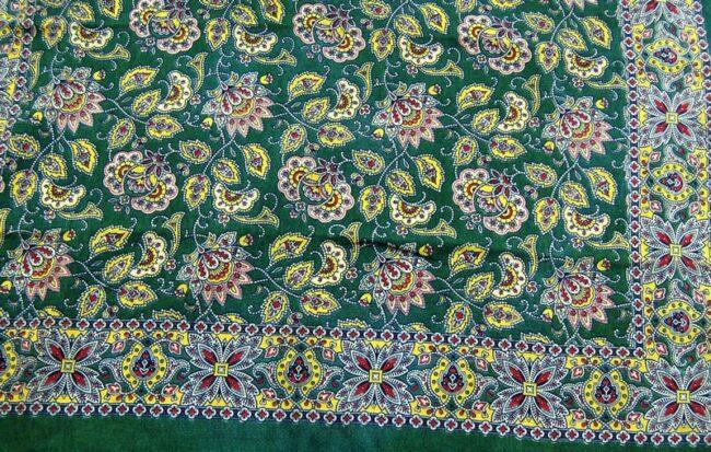 Close up of Vintage Floral Bandana