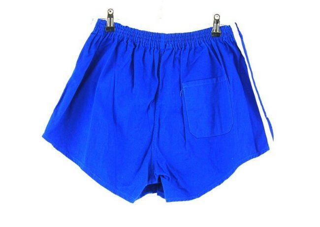 Back of Blue Cotton Adidas 3 Stripe Mens Shorts