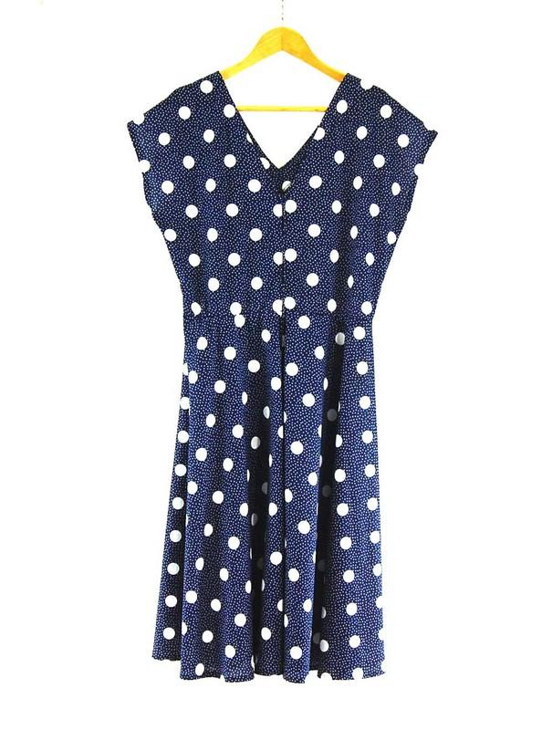 Back of 80s Polka Dots Dress