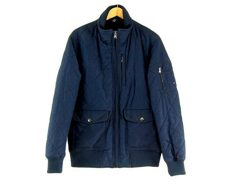 Mens Navy Tommy Hilfiger Quilted Jacket