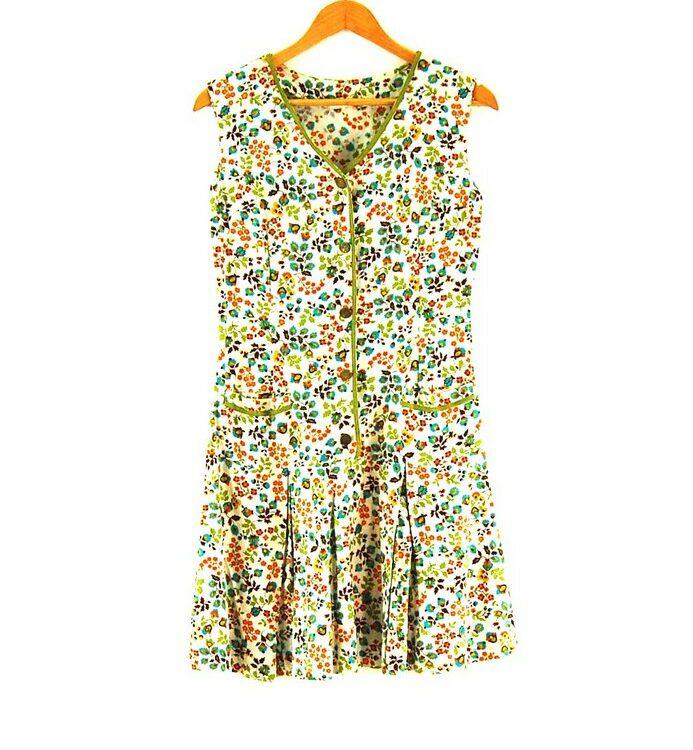70s Drop Waist Dress