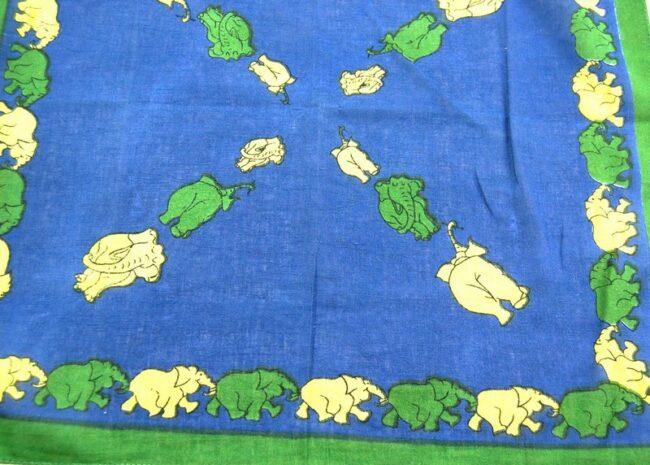 Elephant Print Bandana Scarf
