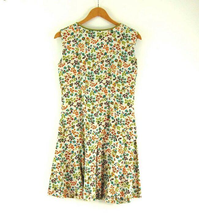Back of 70s Drop Waist Dress