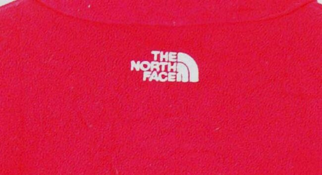 Close up of Red North Face Fleece