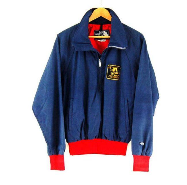 Blue North Face Half Zip Jacket