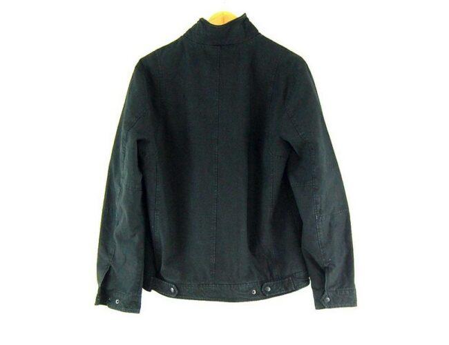 Back of Mens Levis Black Military Jacket
