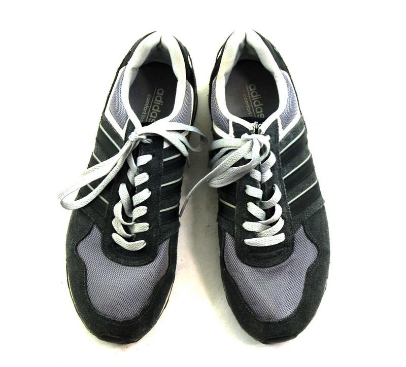 Grey Adidas Neo Trainers Mens - 8