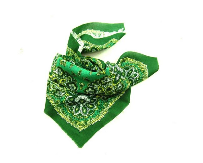 Green Floral Print Bandana