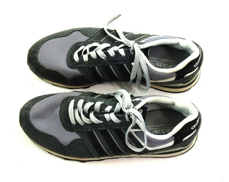 Grey Adidas Neo Trainers Mens