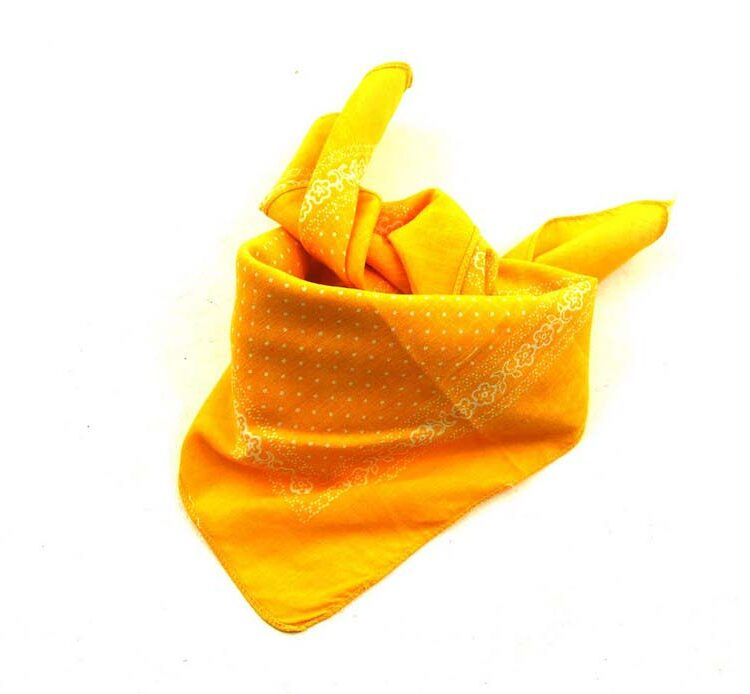 Yellow Polka Dot Bandana