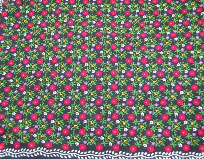 Black Floral Print Bandana