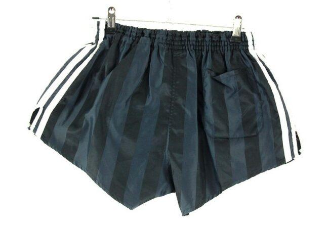 Back of Black Adidas 3 Stripe Shorts