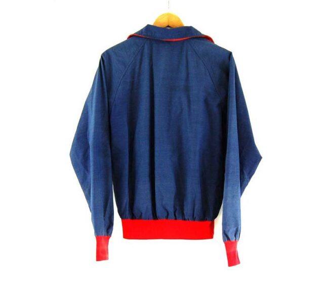 Back of Blue North Face Half Zip Jacket