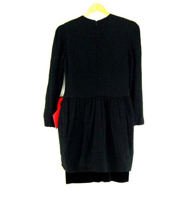 Back of 80s Evening Dress