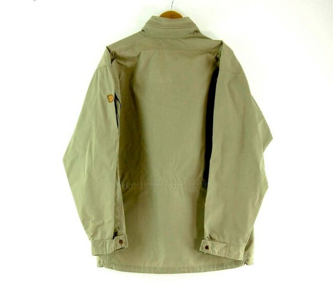 BAck of Beige Fjall Raven Jacket Gore Tex