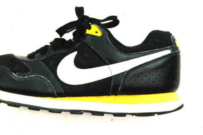 Close up of Mens Black Nike Trainers