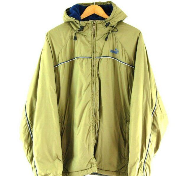 Close up of Olive Green Puma Vintage Jacket