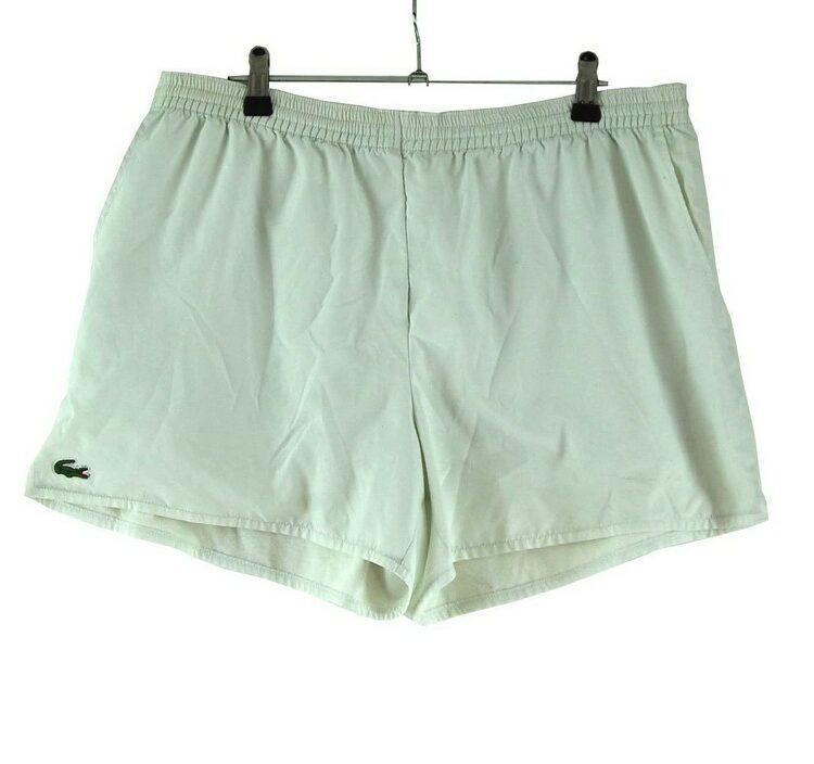 White Lacoste Shorts
