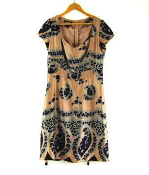 80s Silk Dress with Tie Back