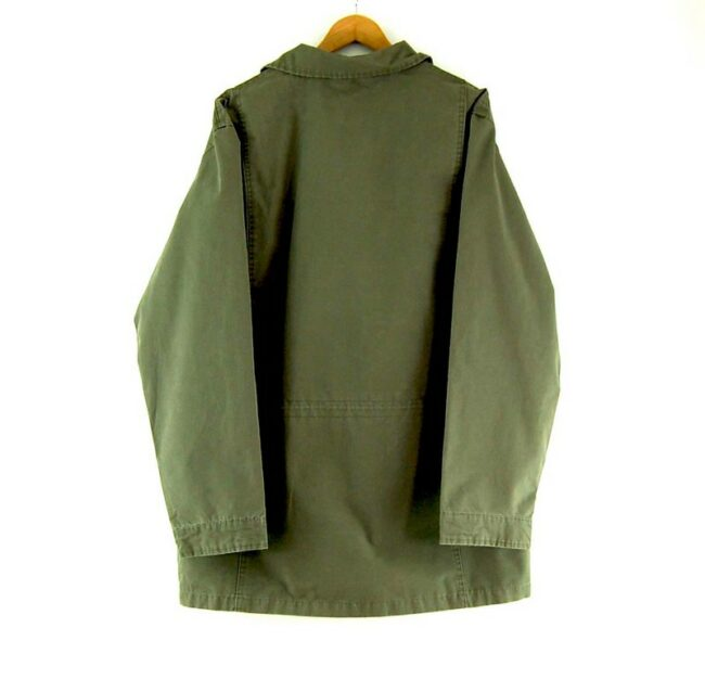 Back of Mens Olive Timberland Field Jacket