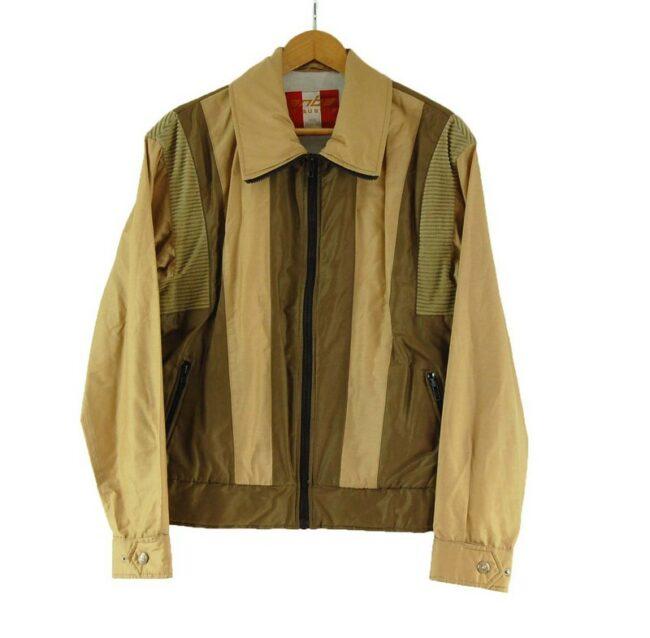 Anba Brown Zip Up Jacket
