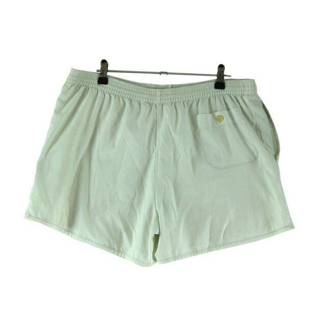 Back of White Lacoste Shorts
