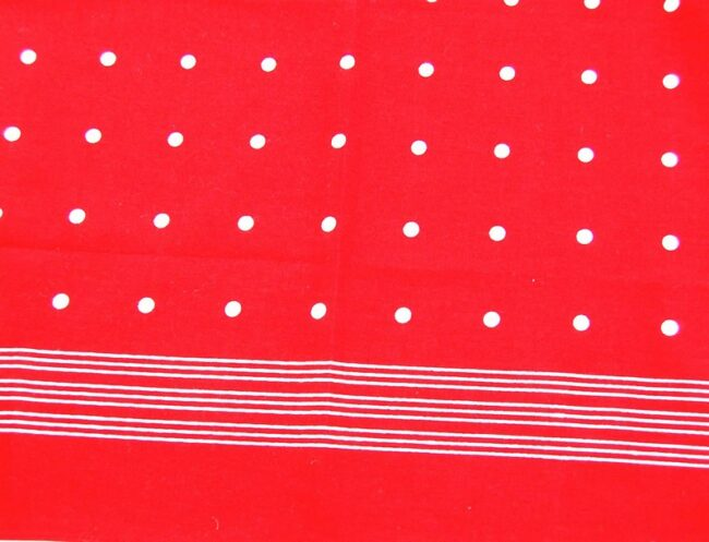 Close up of Red Polka Dots Bandana