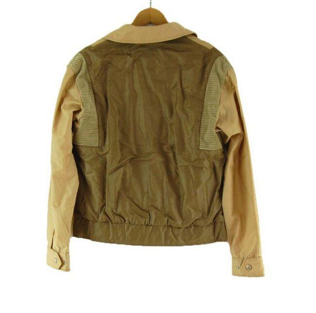 Back of Anba Brown Zip Up Jacket