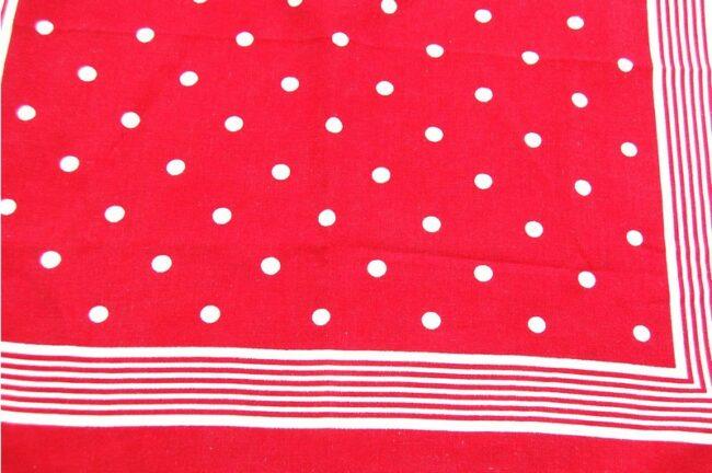 Close up of Polka Dots and Stripes Bandana